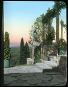 view [Naumkeag]: looking northwest, with the Afternoon Garden on the right. digital asset: [Naumkeag]: looking northwest, with the Afternoon Garden on the right.: [between 1914 and 1949?]
