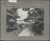 view [Chase Garden]: George B. Chase in his garden, with Salem Harbor in the background. digital asset: [Chase Garden] [Photographic print]: George B. Chase in his garden, with Salem Harbor in the background.