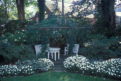 view [78 Main Street]: gazebo in summer with flowering hydrangeas, as well as azaleas, hosta, and other plantings. digital asset: [78 Main Street]: gazebo in summer with flowering hydrangeas, as well as azaleas, hosta, and other plantings.: 2007 Oct.