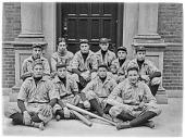 view [Volkmann School]: the Volkmann School baseball team. digital asset: [Volkmann School] [glass negative]: the Volkmann School baseball team.