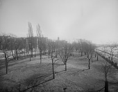 view [Charlesbank Playground]: a view of the Charlesbank area, with the river on the right. digital asset: [Charlesbank Playground] [glass negative]: a view of the Charlesbank area, with the river on the right.
