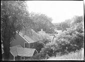 view [Unidentified Garden in Massachusetts, No. 1]: Colonial Revival houses digital asset: [Unidentified Garden in Massachusetts, No. 1]: Colonial Revival houses.: [between 1920 and 1939]