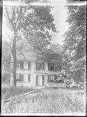 view [Unidentified Garden in Massachusetts, No. 1]: front of colonial-style house digital asset: [Unidentified Garden in Massachusetts, No. 1]: front of colonial-style house.: [between 1920 and 1939]