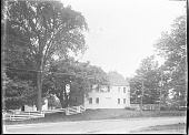 view [Unidentified Garden in Massachusetts, No. 1]: roadway and buildings digital asset: [Unidentified Garden in Massachusetts, No. 1]: streets and outbuildings.: [between 1920 and 1939]