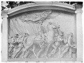 view [Miscellaneous Sites in Boston, Massachusetts]: the Robert Gould Shaw Memorial. digital asset: [Miscellaneous Sites in Boston, Massachusetts] [glass negative]: the Robert Gould Shaw Memorial.