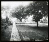 view [Edgewood (MD)]: a view across the garden toward the pergola. digital asset: [Edgewood (MD)] [lantern slide]: a view across the garden toward the pergola.
