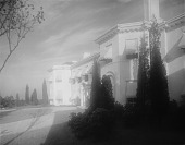 view [Brooks Garden]: the house, showing main entrance and circular driveway. digital asset: [Brooks Garden] [glass negative]: the house, showing main entrance and circular driveway.