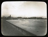 view [Latrobe Park]: looking toward East Fort Avenue across what appears to be a playing field. digital asset: [Latrobe Park] [lantern slide]: looking toward East Fort Avenue across what appears to be a playing field.