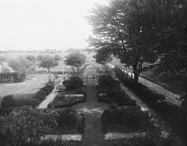 view [Marengo]: an overhead view of the garden, looking toward the orchard. digital asset: [Marengo] [glass negative]: an overhead view of the garden, looking toward the orchard.