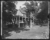 view [White Garden]: view of the house from below. digital asset: [White Garden] [glass negative]: view of the house from below.