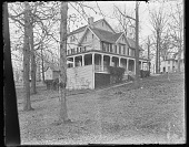 view [White Garden]: southeast corner of house in winter. digital asset: [White Garden] [glass negative]: southeast corner of house in winter.