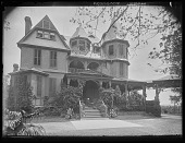 view [Tanglewood]: front of house. digital asset: [Tanglewood] [glass negative]: front of house.