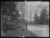view [Tanglewood]: Walter (l.) and Clarence (r.) Liebig at the house. digital asset: [Tanglewood] [glass negative]: Walter (l.) and Clarence (r.) Liebig at the house.