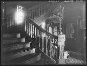view [Tanglewood]: stairway in Liebig house. digital asset: [Tanglewood] [glass negative]: stairway in Liebig house.