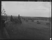 "view [Tanglewood]: a landscape view from ""Dr. Gustav's window"" at Tanglewood. digital asset: [Tanglewood] [glass negative] a landscape view from ""Dr. Gustav's window"" at Tanglewood."