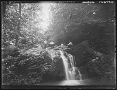 view [Patapsco River Valley]: a group picnicking at a cascade. digital asset: [Patapsco River Valley] [glass negative]: a group picnicking at a cascade.