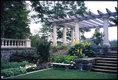 view [Kenarden]: A corner of the Italian garden with the replicated pergola and balustrade. digital asset: [Kenarden]: A corner of the Italian garden with the replicated pergola and balustrade.: 2010 Jul.