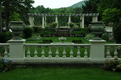 view [Kenarden]: The restored Italian garden with a view of Champlain Mountain. digital asset: [Kenarden]: The restored Italian garden with a view of Champlain Mountain.: 2010 Jul.