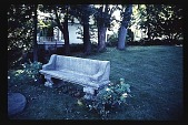 view [Harbor Gables]: stone bench. digital asset: [Harbor Gables]: stone bench.: 1988 Sep. 1.