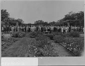 view Fair Lane: [large group in the rose garden] digital asset: Fair Lane [photonegative]