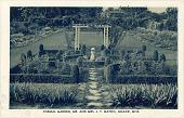 view [Joseph Thomas Mathis House Garden]: the earlier formal garden's privet-edged rose beds. digital asset: [Joseph Thomas Mathis House Garden]: the earlier formal garden's privet-edged rose beds.: ca. 1930.