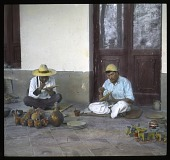 view Unidentified Site in Uruapan, Mexico: pottery artists at work. digital asset: Unidentified Site in Uruapan, Mexico: pottery artists at work.: 1937 Jan.