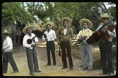 view [Miscellaneous Sites in Guadalajara, Mexico]: an unidentified group of musicians. digital asset: [Miscellaneous Sites in Guadalajara, Mexico]: an unidentified group of musicians.: 1937 Jan.