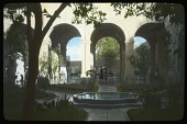 view [Miscellaneous Sites in Guadalajara, Mexico]: an interior courtyard in the Hospicio Cabañas. digital asset: [Miscellaneous Sites in Guadalajara, Mexico]: an interior courtyard in the Hospicio Cabañas.: 1937 Jan.