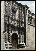 view [Miscellaneous Sites in Guadalajara, Mexico]: an ornate façade at the Templo de Santa Monica de Guadalajara. digital asset: [Miscellaneous Sites in Guadalajara, Mexico]: an ornate façade at the Templo de Santa Monica de Guadalajara.: 1937 Jan.
