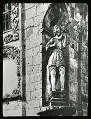 view [Miscellaneous Sites in Guadalajara, Mexico]: a sculpture of San Cristóbal with the infant Jesus at the Templo de Santa Monica de Guadalajara. digital asset: [Miscellaneous Sites in Guadalajara, Mexico]: a sculpture of San Cristóbal with the infant Jesus at the Templo de Santa Monica de Guadalajara.: 1937 Jan.