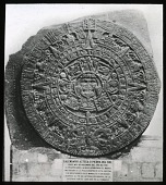 view [Miscellaneous Sites in Mexico City, Mexico]: Aztec calendar stone sculpture. digital asset: [Miscellaneous Sites in Mexico City, Mexico]: Aztec calendar stone sculpture.: 1937 Jan.