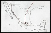 view Map of Mexico: map of Mexico and a portion of the United States. digital asset: Map of Mexico: map of Mexico and a portion of the United States.: 1937 Jan.