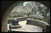view Churubusco Monastery: a corner of the garden showing its raised beds. digital asset: Churubusco Monastery: a corner of the garden showing its raised beds.: 1937 Jan.
