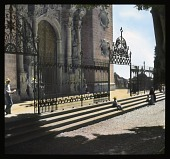 view [Miscellaneous Sites in Taxco, Mexico]: the main entrance and façade of the Church of Santa Prisca. digital asset: [Miscellaneous Sites in Taxco, Mexico]: the main entrance and façade of the Church of Santa Prisca.: 1937 Jan.