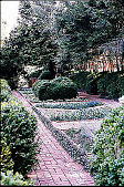 view [New Gunston Hall]: the formal boxwood garden. digital asset: [New Gunston Hall]: the formal boxwood garden.: 1999 May.