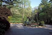 view [Cedarcliff Garden]: circular rose garden as seen from house entrance in spring. digital asset: [Cedarcliff Garden]: circular rose garden as seen from house entrance in spring.: 2003 Jun.