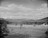 view [Miscellaneous Sites in New Hampshire, Series 1]: looking from Intervale toward Mount Washington, the highest peak in the middle distance. digital asset: [Miscellaneous Sites in New Hampshire, Series 1] [glass negative]: looking from Intervale toward Mount Washington, the highest peak in the middle distance.