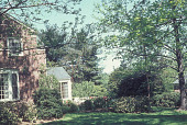 view [McGraw Garden]: terrace area seen from side of house. digital asset: [McGraw Garden]: terrace area seen from side of house.: 1968 May.