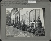 view Unidentified Garden in Montclair, New Jersey: Evergreen foundation planting digital asset: Unidentified Garden in Montclair, New Jersey [photoprint]
