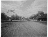 view [Miscellaneous Sites in Glen Ridge, New Jersey]: railroad crossing at Wildwood Terrace and Benson Street. digital asset: [Miscellaneous Sites in Glen Ridge, New Jersey] [glass negative]: railroad crossing at Wildwood Terrace and Benson Street.