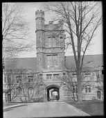 view [Princeton University]: tower of library at Princeton. digital asset: [Princeton University] [glass negative]: tower of library at Princeton.