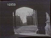 view [Princeton University]: view facing west from arch of East Pyne Hall. digital asset: [Princeton University] [nitrate negative] view facing west from arch of East Pyne Hall.