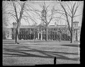 view [Princeton University]: the front of Nassau Hall (north-facing side) viewed from Nassau Street. digital asset: [Princeton University] [glass negative] the front of Nassau Hall (north-facing side) viewed from Nassau Street.