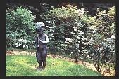 view [Watts Garden]: statue and rose garden. digital asset: [Watts Garden]: statue and rose garden.: 1997 May.