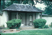 view [The Merwick Unit of the Medical Center at Princeton]: closer view of tea house. digital asset: [The Merwick Unit of the Medical Center at Princeton]: closer view of tea house.: 2000 May.