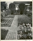 view [The Rowley House]: herb garden. digital asset: [The Rowley House] [photoprint]: herb garden.