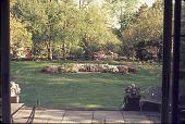 view [Penney Garden]: lawn, water feature, and azaleas from terrace. digital asset: [Penney Garden] [slide]: lawn, water feature, and azaleas from terrace.