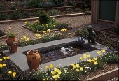 view [Poinier Garden]: lily pond in spring. digital asset: [Poinier Garden] [slide]: lily pond in spring.