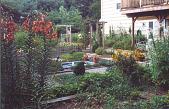 view [Poinier Garden]: back garden in summer. digital asset: [Poinier Garden] [photoprint]: back garden in summer.
