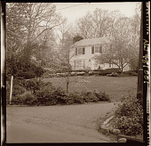view [Wirth Garden]: front of house; end of driveway in foreground. digital asset: [Wirth Garden] [photonegative]: front of house; end of driveway in foreground.
